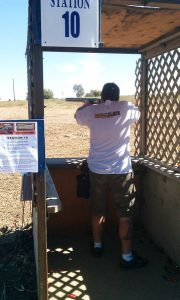 Shooting station 10 at Raahauges in Corona, CA